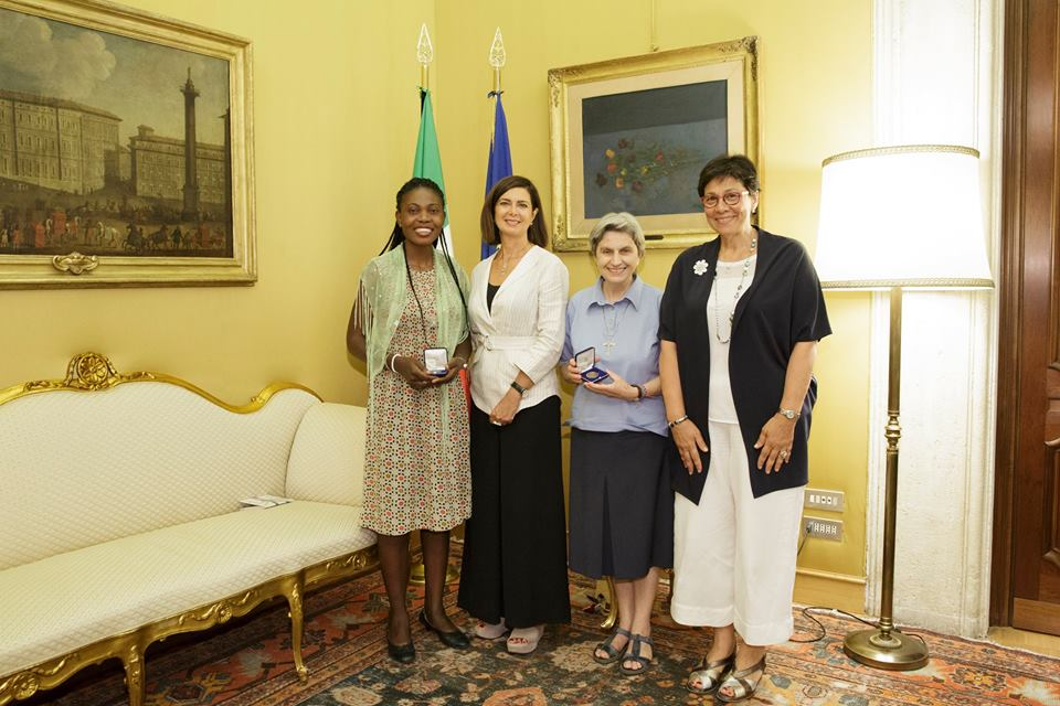 Awarded by the president of the chamber of deputies laura for In diretta dalla camera dei deputati