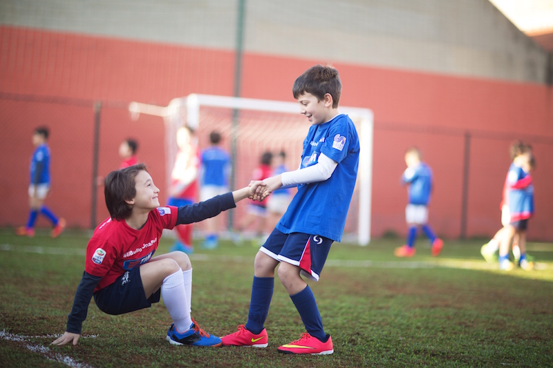 A soccer game with guardian angels - Angelo Affinita Foundation