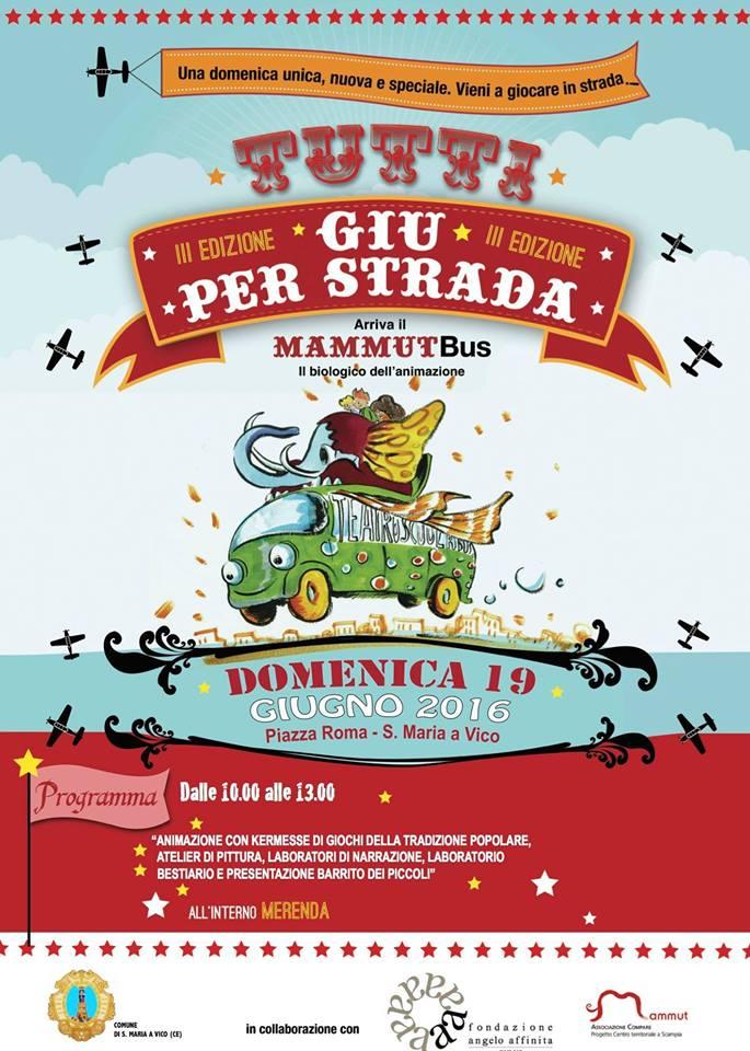 Tutti giu per strada terza edizione MammutBus Fondazione Angelo Affinita