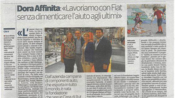 intervista Dora Affinita Corriere della Sera Donna 21 luglio 2016 - Fondazione Angelo Affinita