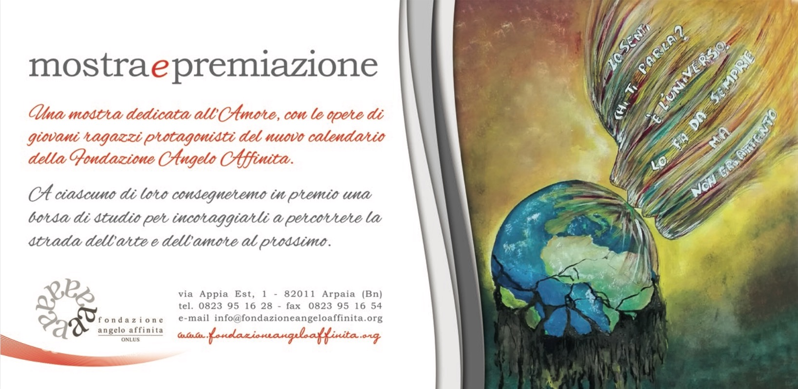 Arte e Amore incoraggiamo i nuovi talenti artistici di domani evento calendario 2017 Fondazione Angelo Affinita