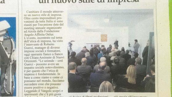 Il Sannio 28 ottobre 2016 - Meeting annuale Fondazione Angelo Affinita