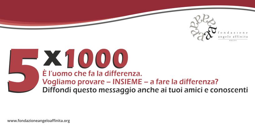 Come trasformare le tue tasse e il 5x1000 in un progetto di impresa - Fondazione Angelo Affinita
