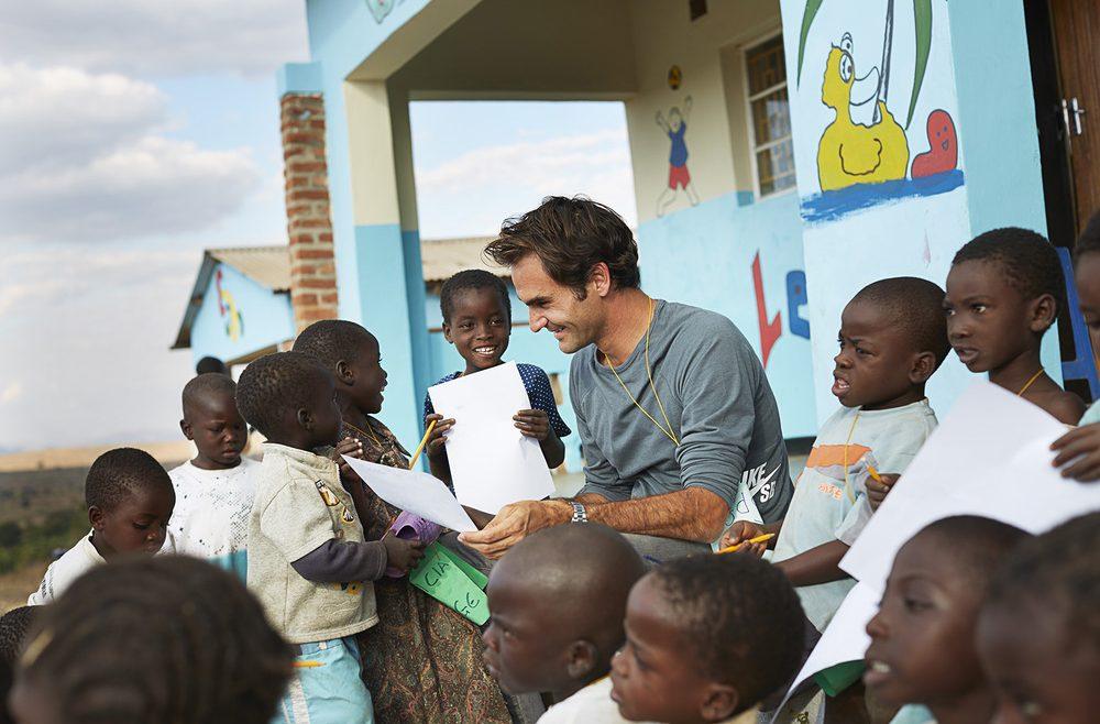 Il metodo vincente di Roger Federer per aiutare migliaia di bambini in difficolta - Fondazione Angelo Affinita